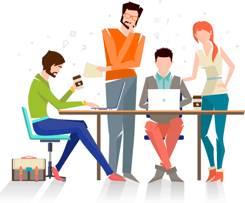 team-on-work
